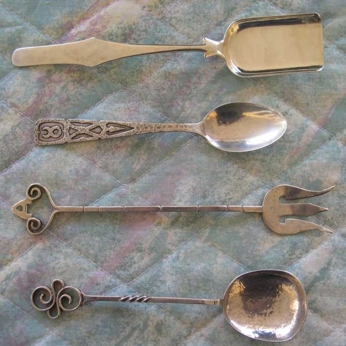 arts and crafts silver flatware spoons