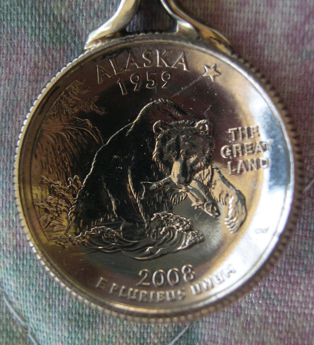 alaska quarter spoon