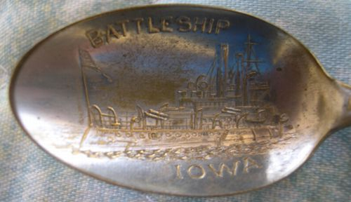 battleship iowa spoon