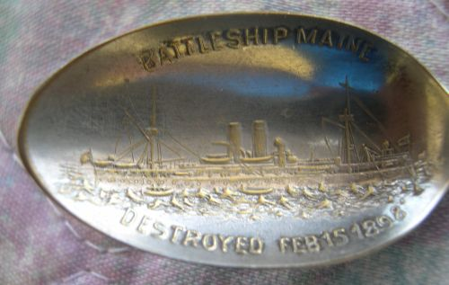 Maine battleship spoon