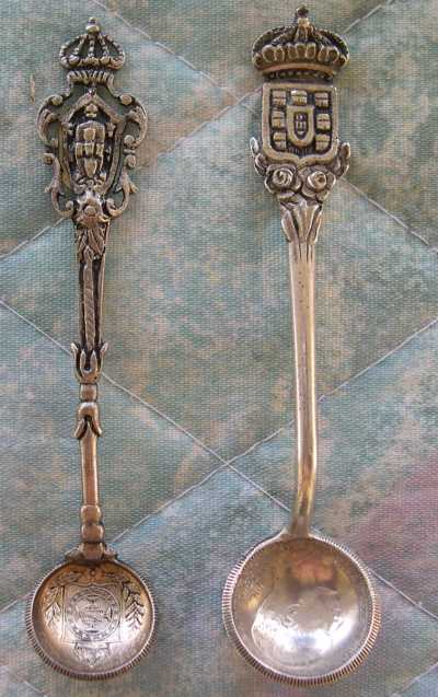 Brazil silver coin spoons