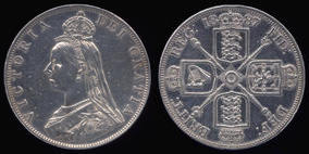 british queen victoria double florin