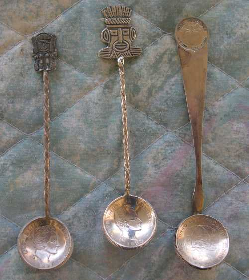 columbian coin spoons