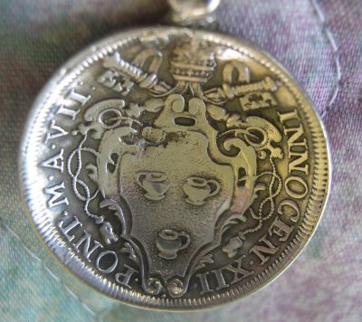 pope innocent ii coin 1698 spoon
