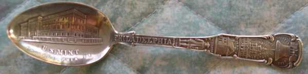 coin spoon philadelphia mint