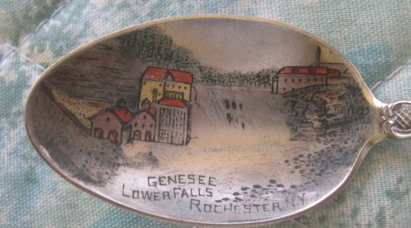 genesee lower  falls souvenir spoons rochester
