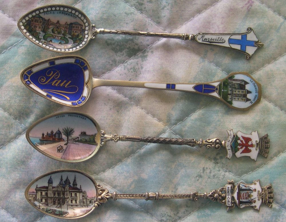 French souvenir spoons