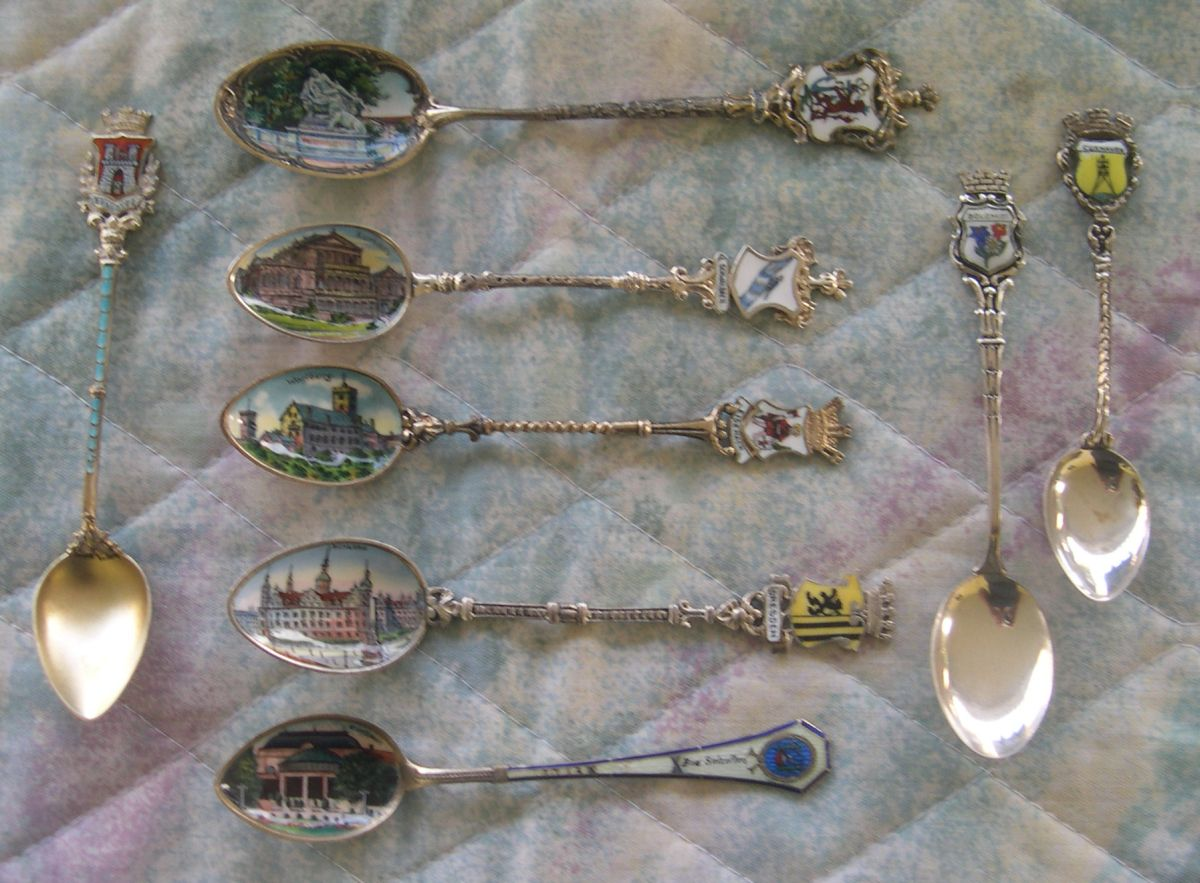 german souvenir spoons enameled