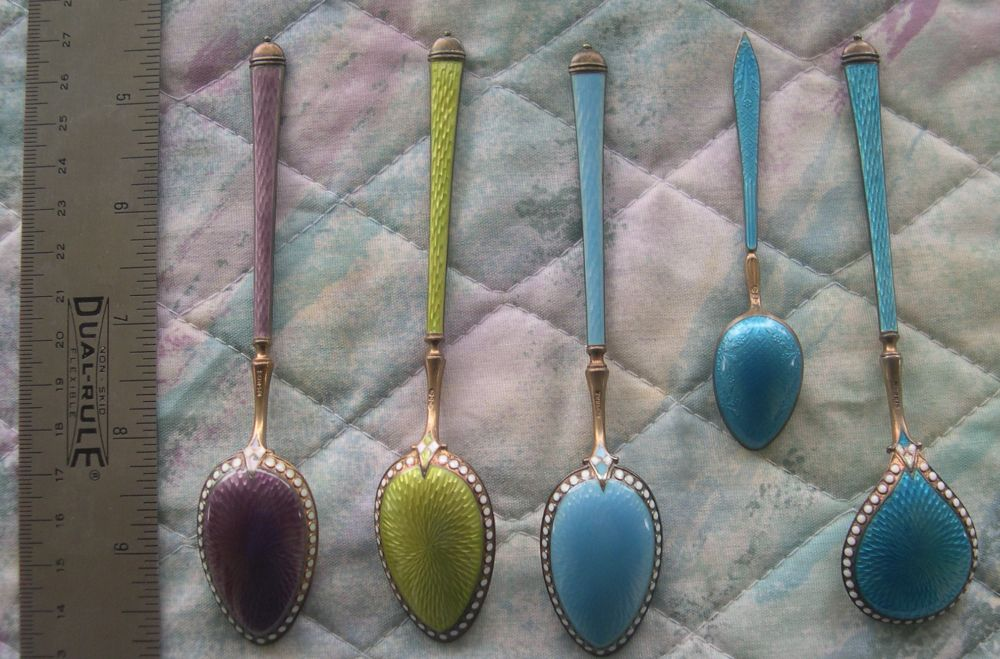 guilloche spoons