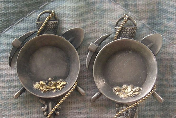 gold pan nugget spoons