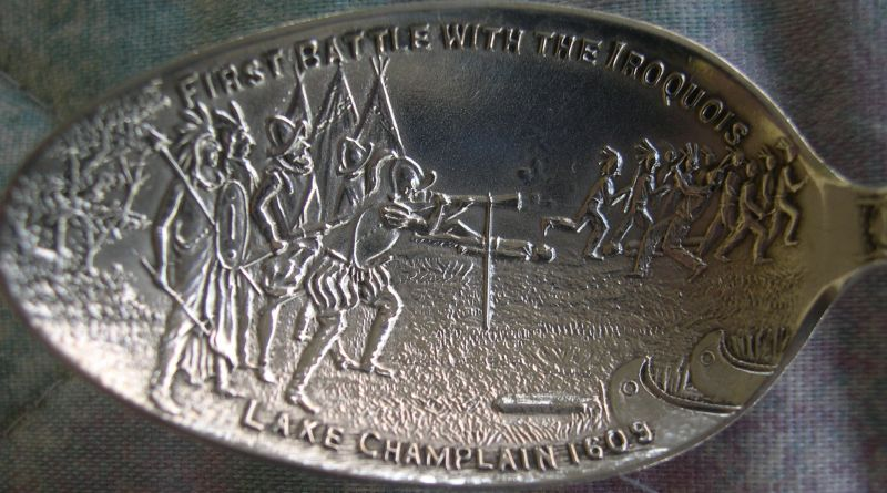 indian war champlain spoon