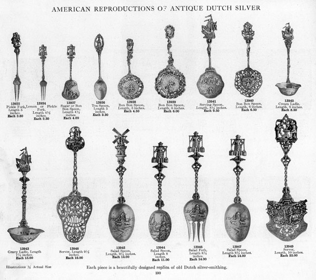 marshall field advertisement spoons