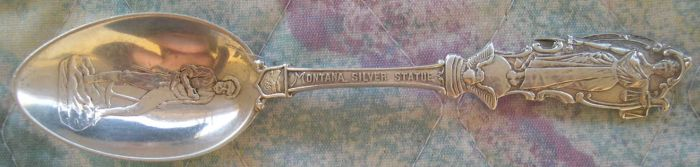 montana silver sculpture spoon