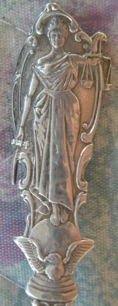 montana silver statue spoon