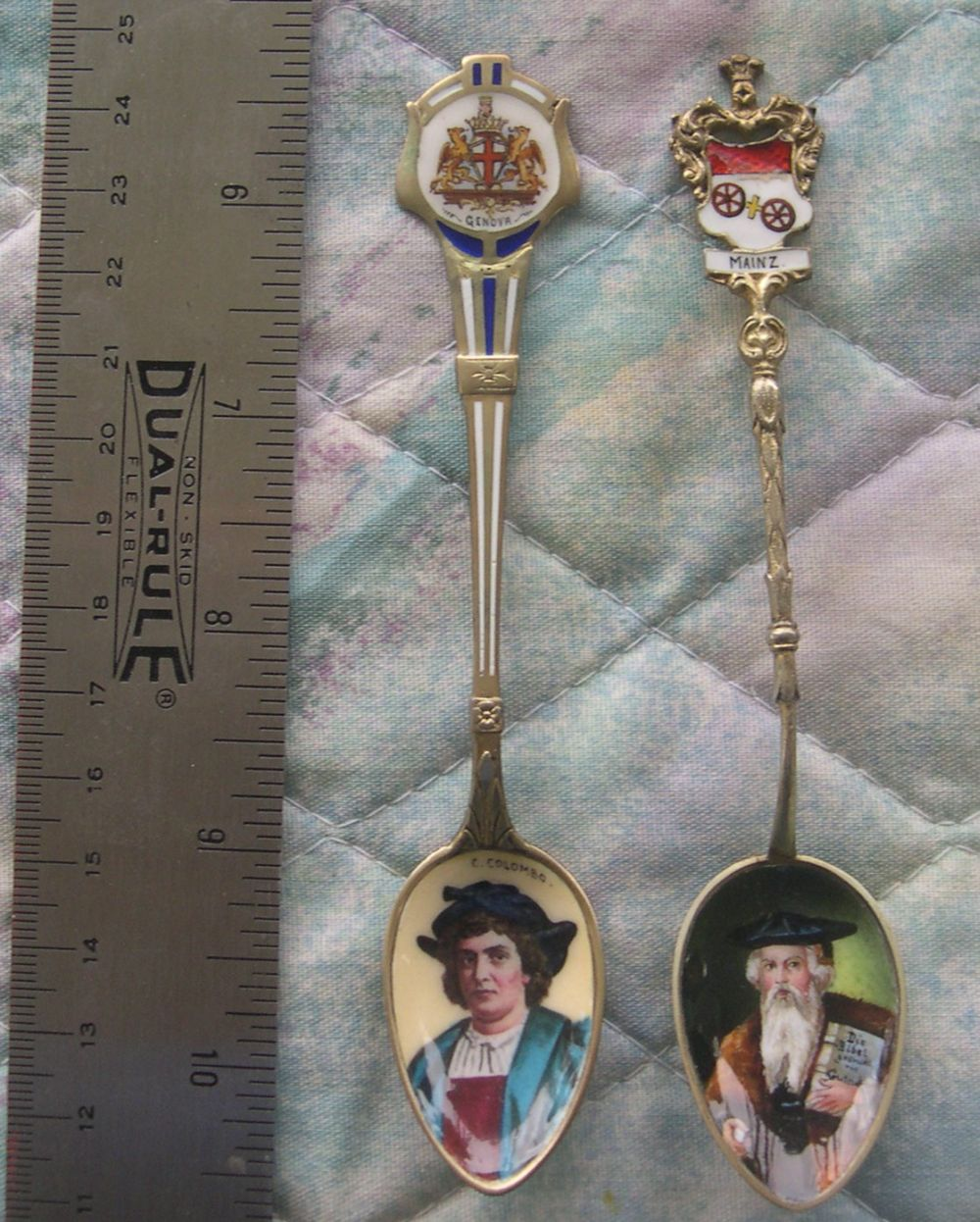 columbus and gutenberg spoons
