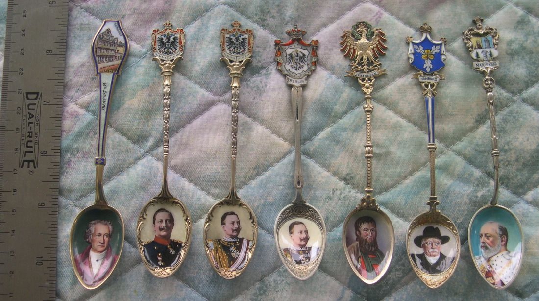 european portrait spoons royalty