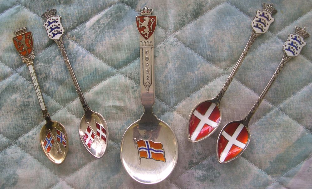 norway flag spoons