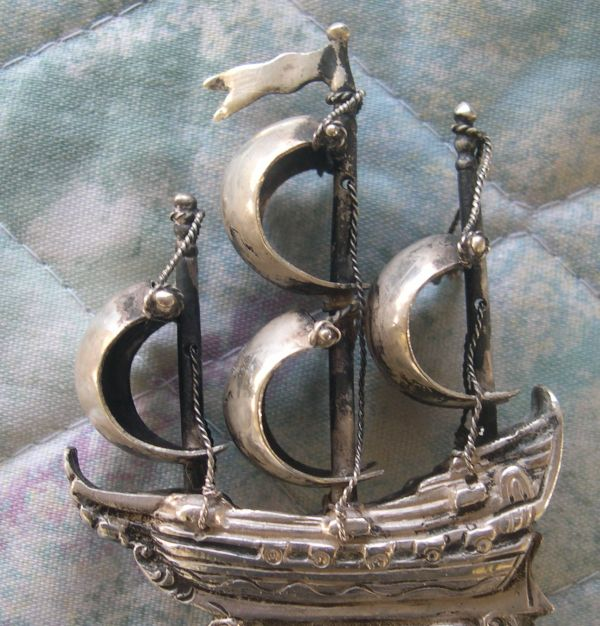 silver ship spoon
