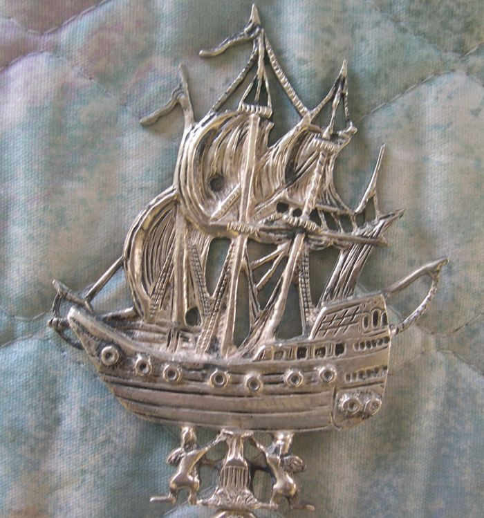 dutch silver ship spoon