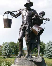 water carrier sculpture